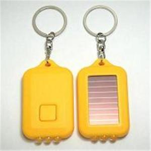 China led solar keychain/rechargable powered light led keychain on sale