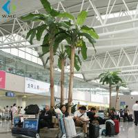 Buy cheap Plastic Artificial Palm Trees , Large Szie Green Artificial Banana Plant product