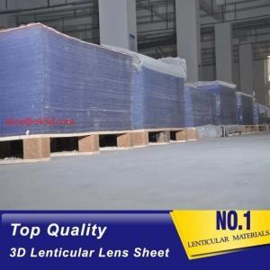 Buy cheap 3D injekt print 75LPI 0.45mm Lenticular Lens Sheet material with good Lenticular Printing Effect product