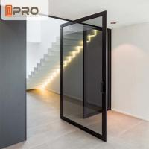 Buy cheap Living Room Bedroom Large Aluminum Pivot Doors Anti - Burglar Sound Insulation Glass pivot door,pivot glass door hinge, product