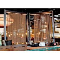 Buy cheap Decorative Mesh Cascade Metal Coil Drapery Curtains For Outdoor Decoration product