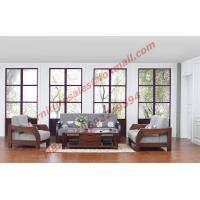 Buy cheap Solid Wood Sofa with Upholstery for Luxury Living Room Made in China product