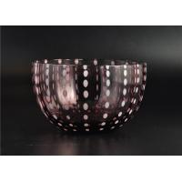 Buy cheap Home Decor Coloured Glass Candle Holders , Glass Jars For Candles product