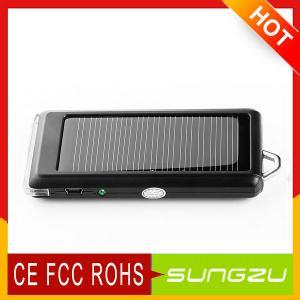Buy cheap OEMの習慣5.5v/80mのABS +ステンレス鋼の懐中電燈の太陽充電器1200MAH product