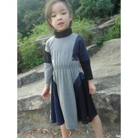 Buy cheap Grey  Turtleneck 5 Year Baby Girl Dress , Little Girl Long Sleeve Dresses Cotton Spandex product