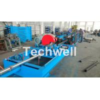 Buy cheap Step Beam Rack Roll Forming Machine With Welding Line , Servo Flying Saw Cutting Device product