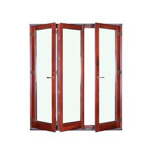 Buy cheap Wood Grain Aluminum Folding Doors Fiberglass Non Thermal Break product