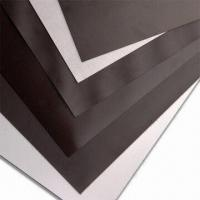 China Flexible Rubber Magnet Sheets with Adhesive, 4 to 5mm Pole Pitch and 1,000mm Maximum Width on sale