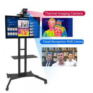 Buy cheap LCD Face Recognition Thermometer Terminal Touchless Temperature Screening Kiosk product