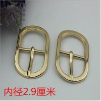 Buy cheap Shoes hardware accessories zinc alloy 29 mm shiny gold oval shape metal pin buckles for belt product