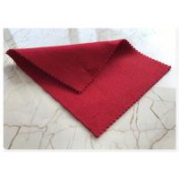 Light Red Wool Fabric Soft Comfortable , Double Faced Wool Crepe Dress Fabric 70w 720g