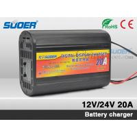 China Suoer Auto Battery Charger 20A Digital Display Battery Charger 12v Fast Battery Charger wi on sale