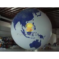 Buy cheap Fireproof Large Earth Balloons Globe for Weather service , Inflatable Ground Balloon product