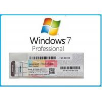 China Microsoft Windows 7 Product Key Code Win7 Professional Genuine OEM License Activation Online on sale