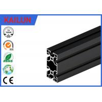 Buy cheap Black Anodised V - Slot Aluminum Extrusion Section for Assembly Line Profile 80 MM X 40 MM product