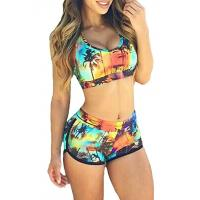 Buy cheap High Stretched Womens Swimming Suits Two Piece Swimwear 82% Nylon 18% Spandex product