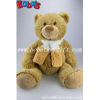 "Buy cheap 23.6""ASTM Approved Safety Brown Stuffed Plush Teddy Bear With Scarf In Large Size product"