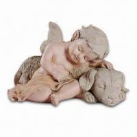 China Polyresin Craft in Angel Design, Ideal Decoration for Home, Measures 8.66 x 11.81 x 7.48 Inches on sale