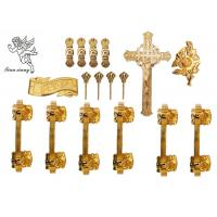 Buy cheap Gold / Silver / Copper Burial Coffin Accessories , Casket Hardware Suppliers product