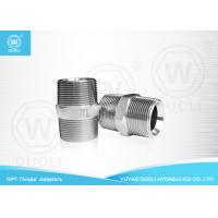China Straight NPT Male Thread Hydraulic Pipe Fittings And Adapters National Standard on sale