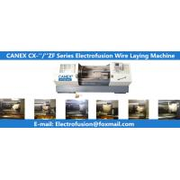 Quality horizental cnc automatic polyethylene fittings wire laying machine canex wire laying machine for electrofusion for sale