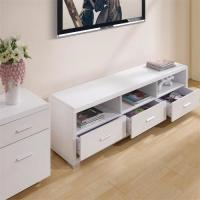 Buy cheap Melamine Covered Solid Wood TV Stands For Flat Screens Low Formaldehyde Emission product
