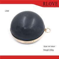 Quality Fashion hardware accessories custom gold round shape evening bag plastic box for sale