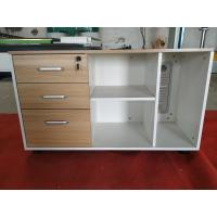Buy cheap Moveable wheel Wooden side cabinet single person or L shape office desk MDF material  1000x500xH600mm product