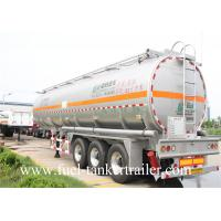 30 - 60CBM Aluminum Alloy Fuel Crude Oil Tanker Trailers 50000 Liters