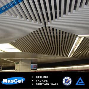 Buy cheap ショッピング モールのためのアルミニウム バッフルの天井/建築構造材料 product