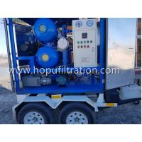 China High Vacuum Transformer Oil Filtration Machine mounted on trailer,Mobile Transformer Oil Treatment Plant manufacturer on sale