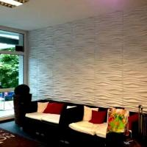 Buy cheap 3dboard wall decor panels 625*800 fiber eco wave panels with original colcor INREDA product
