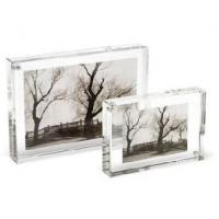 Buy cheap Crystal Picture Clear Acrylic Frames With Beautiful Shape product
