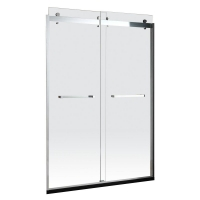 Buy cheap Collision Avoidance Design Aluminum Bathroom Doors Frosted Glass ISO9001 product