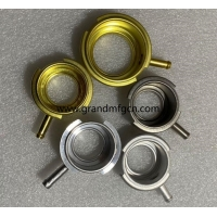 China custom 56mm SS304 / brass / Aluminum Auto Radiator Caps and Auto Filler Necks OEM business service welding connection on sale