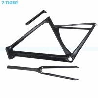China 7-tiger carbon road bike frame 700c Road Frame aero frame 480 mm  light frame with Customized color Zero offset seatpost on sale