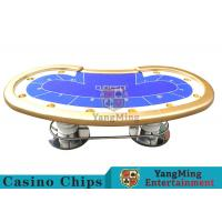 Buy cheap 10 Players Casino Poker Table/ Custom Poker Tables With Disc Shape Legs product