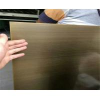 Buy cheap satin brush titanium bronze coated sheets color stainless steel 304 316 product