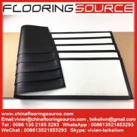 Buy cheap Rubber Bar Runner nitrile rubber base polyester top white blank for Sublimation Printing product