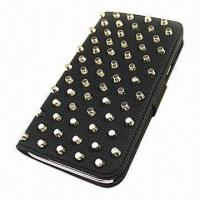 Buy cheap Bling Smart Leather Case for Samsung Galaxy Note 2, with Card Holder and Crystal Beads product
