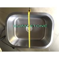Buy cheap Silver Stainless Steel Wash Basin , Simple Sink Fit Toilet And Kitchen product