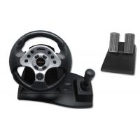 Buy cheap Computer USB Video Game Steering Wheel And Pedals With Suction CuP from wholesalers
