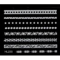 Buy cheap HL-220 White Lace 3D Nail Sticker Nail Art Decals Decoration product