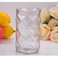 Buy cheap Clear Diamond replacement votive glass candle holders By Mouth Blown Processing product