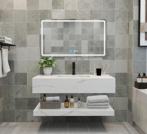 Buy cheap Polished Crystallized Quartz Stone Integrated Wash Basin product