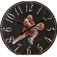 Buy cheap Antique Jordan Basketball Shot Clock Wall Decor  Custom printed glass wall clock for home decoration product