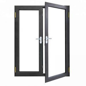 Buy cheap Two Side Open Casement French Doors , Grey Anodized Aluminum Vertical Door product