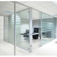 Buy cheap Movable Modern Office Partitions , Interior Frosted Glass Pillar Partition product
