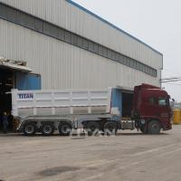 China Tri axle hydraulic tipping semi trailer tipper semitrailer tipping trailer tipper trailers for sale on sale