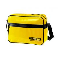 Buy cheap Durable Custom Messenger Bags , Yellow PVC Shoulder Sling Bag with Cardboard Bottom product